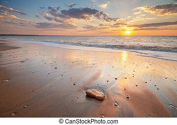 θαλασσογραφία , όμορφος , sunset.