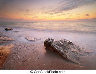 θαλασσογραφία , sunset.