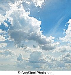 θαμπάδα , μέσα , ο , γαλάζιος ουρανός