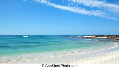 θαμπάδα , ψηλά , πανοραματικός , οκεανόs , ατάραχα , παραλία...