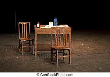 θεατρικός , σκηνικά θέατρου