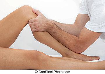 θεραπευτικός , πόδι , μασάζ