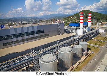 θερμαντικός , εργοστάσιο ηλεκτρισμού