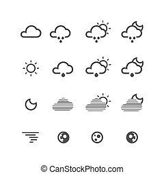 θερμοκρασία , απεικόνιση , set., λεπτός , καιρόs , γραμμή , περισσότερο