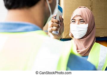 θερμοκρασία , μουσελίνη , ισλάμ , ασιάτης , αποθήκη , άλλος , εργάτης , παίρνω