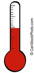 θερμόμετρο , με , θερμοκρασία , ανατέλλων