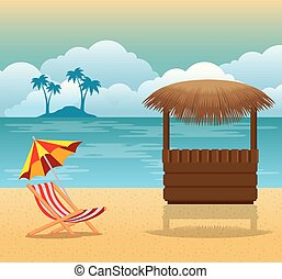 θερμότατος ακρογιαλιά , καλοκαίρι , σκηνή