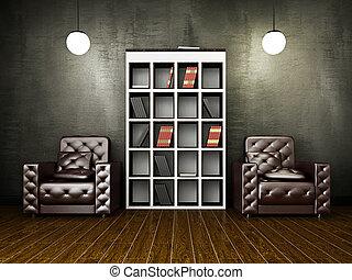 θεωρητικός , τοίχοs , τσιμέντο , δέρμα