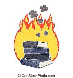 θημωνιά , αγία γραφή , γελοιογραφία , καύση , retro