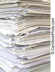 θημωνιά , από , μεταχειρισμένος , χαρτιά , για , ανακύκλωση