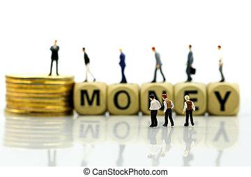 θημωνιά , κέρματα , αρμοδιότητα ανάπτυξη , χρήματα , concept., ξύλινος , μινιατούρα , επιχειρηματίας , people:, οικονομικός , κορμός