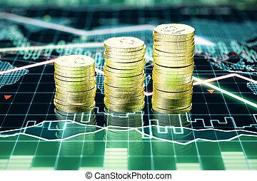 θημωνιά , κέρματα , επιχείρηση , χρυσός , χάρτης