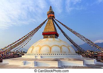 θιβετιανός , σημαίες , boudhanath, stupa