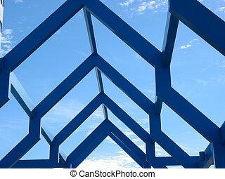 θραύσμα , από , ένα , μοντέρνος , δομή