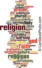 θρησκεία , λέξη , σύνεφο