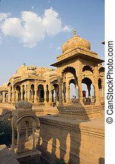 θρησκευτικός , κρόταφος , επάνω , ένα , λίμνη , μέσα , ινδία