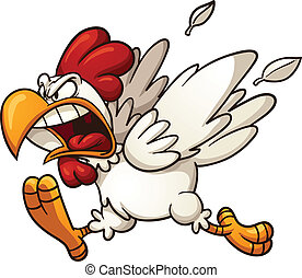 θυμωμένος , κοτόπουλο