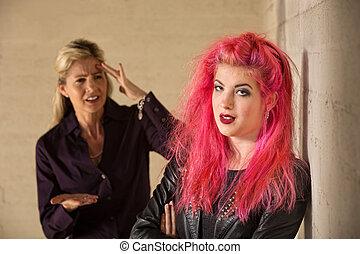 θυμωμένος , κόρη , μητέρα