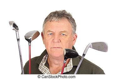 θυμωμένος , παίζων γκολφ