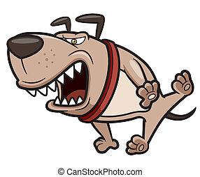 θυμωμένος , σκύλοs