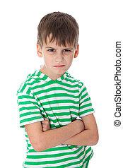θυμός , χαριτωμένος , αγόρι