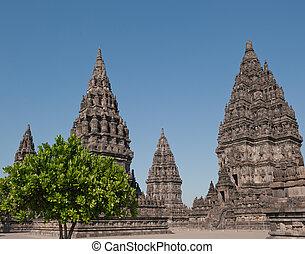 ιάβα , κρόταφος , ινδονησία , prambanan