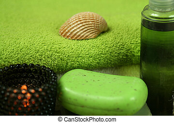 ιαματική πηγή , πράσινο