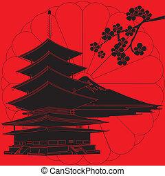 ιαπωνία , έχει , αριστερός φόντο