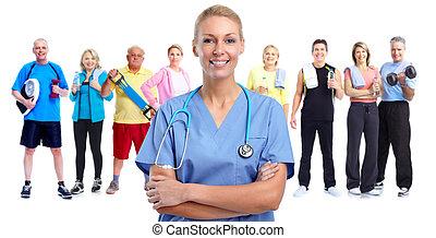 ιατρικός ακάνθουρος , νέος , woman.