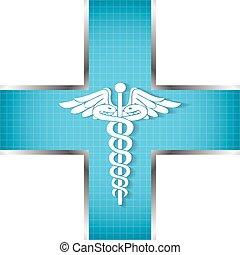 ιατρικός , αφαιρώ , σύμβολο. , φόντο , caduceus