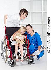 ιατρικός , δουλευτής , ασθενής , μικρός