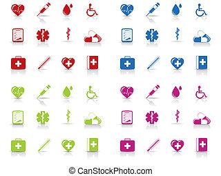 ιατρικός , και , νοσοκομείο , απεικόνιση , θέτω