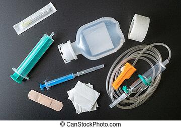 ιατρικός , κλυστήρ , και , έγχυση , set., υγεία , care., ιατρικός , environment.
