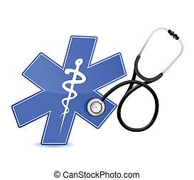 ιατρικός , στηθοσκόπιο , σύμβολο
