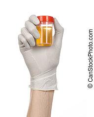 ιατρικός , theme:, ακάνθουρος , χέρι , μέσα , αγαθός γάντι , κράτημα , ένα , transpare