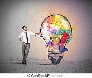 ιδέα , επιχείρηση , δημιουργικός