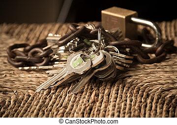 ιδιοκτησία, περιουσία , ακίνδυνος , γενική ιδέα , ασφάλεια , lockand