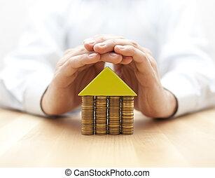 ιδιοκτησία, περιουσία , ασφάλεια , γενική ιδέα