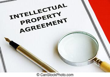 ιδιοκτησία, περιουσία , συμφωνία , διανοούμενος