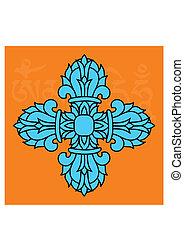 ιερός , - , θρησκευτικός , dorje, βουδιστής , ή , σύμβολο , vajra