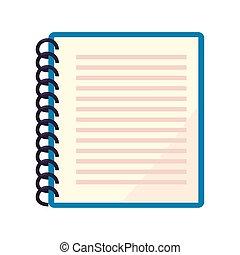 ιζβογις , σημειωματάριο , ελικοειδής , φόντο , άσπρο