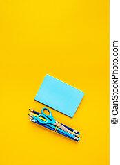 ιζβογις , φόντο , μπλοκ , κίτρινο , γράφω , advertising.,...