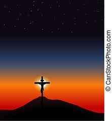 ιησούς , επάνω , ο , σταυρός