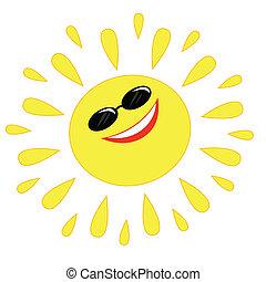 ιλαρός , ήλιοs