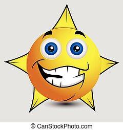 ιλαρός , smiley , αστέρι , μικροβιοφορέας