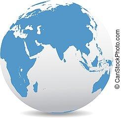 ινδία , ινδικόs ωκεανόs , αφρική , κίνα