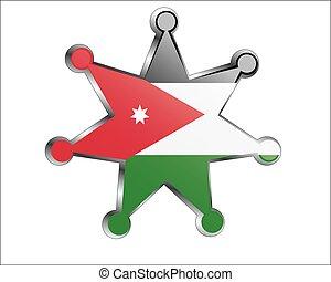 ιορδανία , εθνικός , μετάλλιο , σημαία
