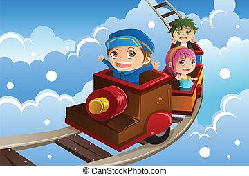 ιππασία , τρένο , μικρόκοσμος