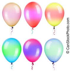 ιπτάμενος , μπαλόνι , απομονωμένος