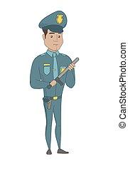 ισπανικός , σοβαρός , νέος , baton., αστυνομικόs